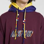Мужская толстовка MSGM Multicolor Hoodie Bordeaux фото- 4