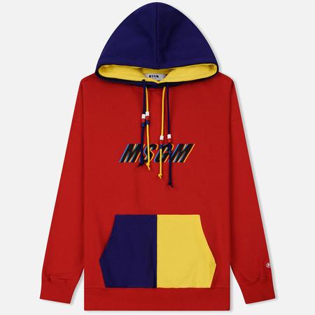 Мужская толстовка MSGM Multicolor Hoodie Red