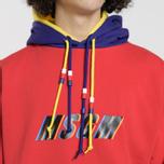 Мужская толстовка MSGM Multicolor Hoodie Red фото- 3