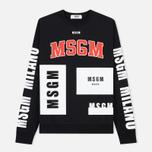 Мужская толстовка MSGM Printed Logo Black фото- 0