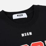 Мужская толстовка MSGM Printed Logo Black фото- 1