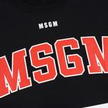 Мужская толстовка MSGM Printed Logo Black фото- 2