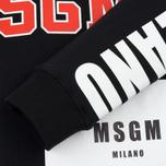 Мужская толстовка MSGM Printed Logo Black фото- 3