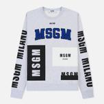 Мужская толстовка MSGM Printed Logo Grey фото- 0