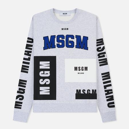 Мужская толстовка MSGM Printed Logo Grey