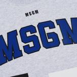 Мужская толстовка MSGM Printed Logo Grey фото- 2