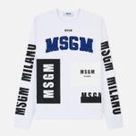 Мужская толстовка MSGM Printed Logo White фото- 0