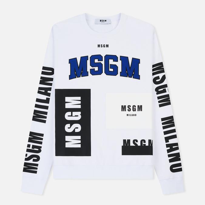Мужская толстовка MSGM Printed Logo White