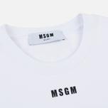 Мужская толстовка MSGM Printed Logo White фото- 1
