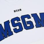 Мужская толстовка MSGM Printed Logo White фото- 2