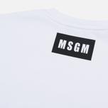 Мужская толстовка MSGM Printed Logo White фото- 4