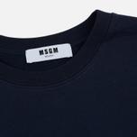 Мужская толстовка MSGM Slogan Crew Neck Blue фото- 1