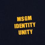 Мужская толстовка MSGM Slogan Crew Neck Blue фото- 2