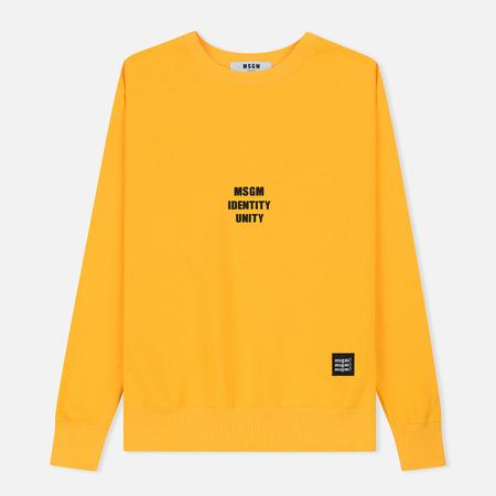Мужская толстовка MSGM Slogan Crew Neck Yellow