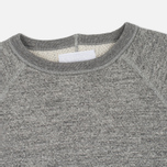 Мужская толстовка Nanamica Crew Neck Sweat Heather Grey фото- 1