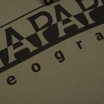 Мужская толстовка Napapijri Badstow Hood T1 Sage Green фото- 2