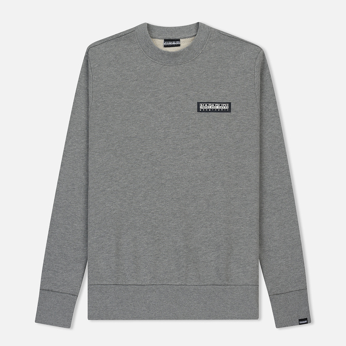 Мужская толстовка Napapijri Bago Crew Medium Grey Melange