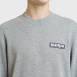 Мужская толстовка Napapijri Bago Crew Medium Grey Melange фото- 2