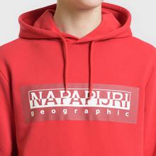 Мужская толстовка Napapijri Bago Hoodie Cherry Red фото- 3