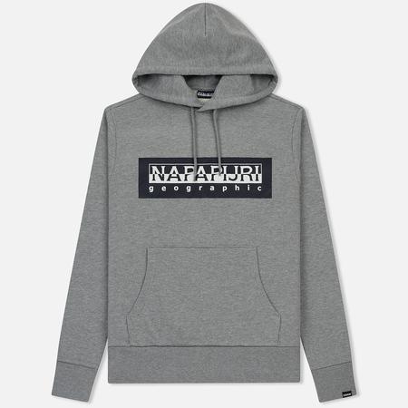 Мужская толстовка Napapijri Bago Hoodie Medium Grey Melange