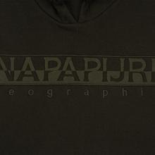 Мужская толстовка Napapijri Berber Hoodie Green Forest фото- 2