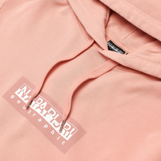 Мужская толстовка Napapijri Box Hoodie 1 Coral Pink