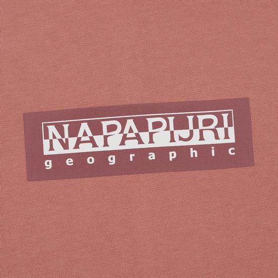 Мужская толстовка Napapijri Box Hoodie Pink Old Rose