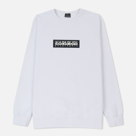 Мужская толстовка Napapijri Buka Crew Tribe Selection Bright White
