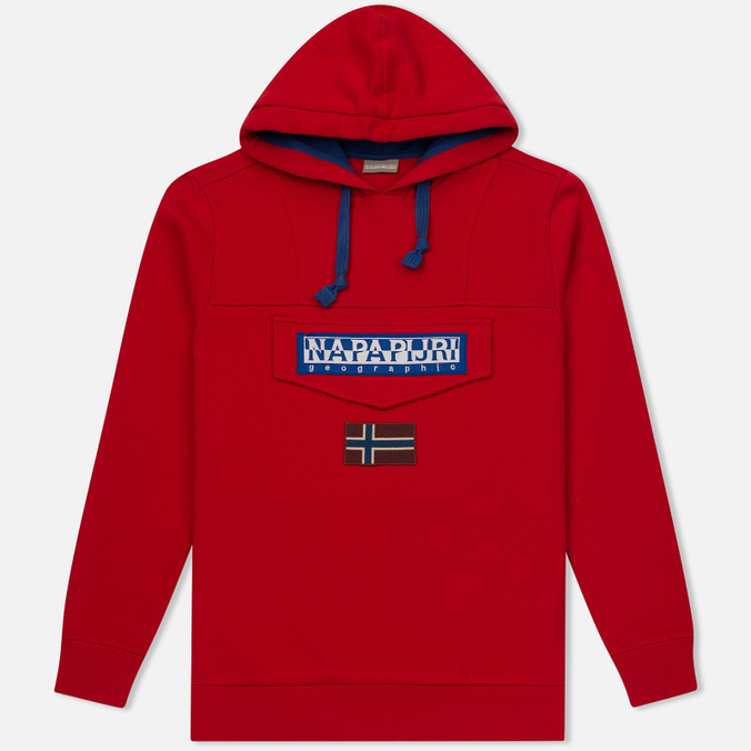 Мужская толстовка Napapijri Burgee Hoody Bright Red