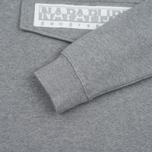 Мужская толстовка Napapijri Burgee Hoody Medium Grey Melange фото- 3