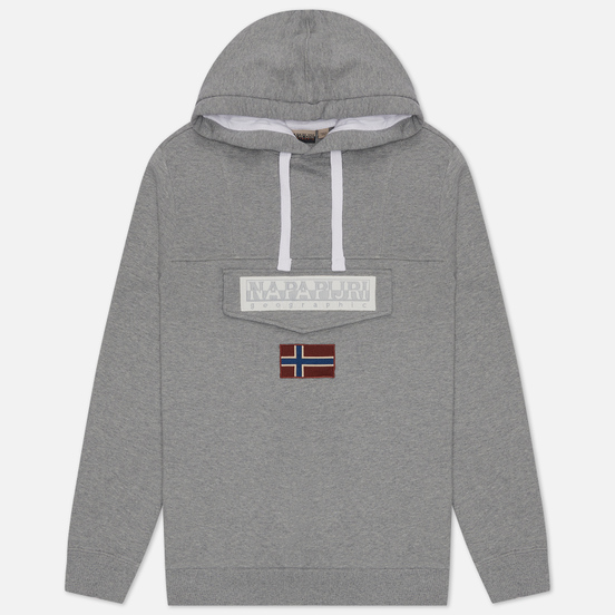 Мужская толстовка Napapijri Burgee Summer Hoodie Medium Grey Melange