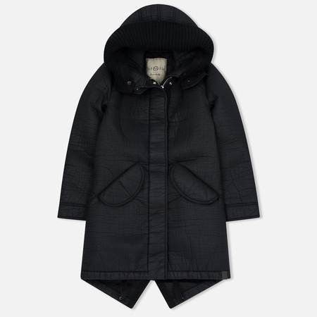 Женская куртка парка Nemen Leather Scuba Knit Ink Black