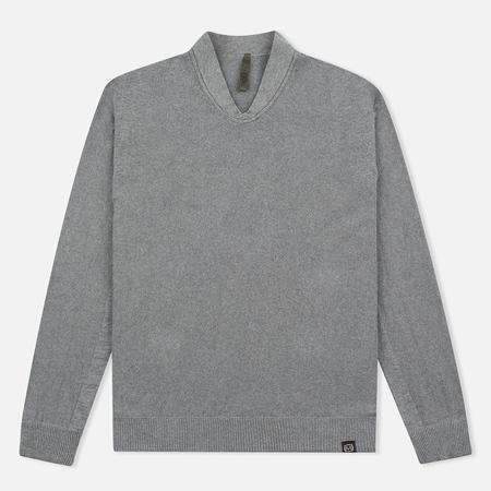 Nemen Seamless Knit Collar Men's Sweatshirt Grey Melange