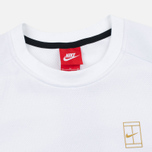Мужская толстовка Nike Court Fleece Crew White/Metallic Gold фото- 1