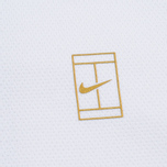 Мужская толстовка Nike Court Fleece Crew White/Metallic Gold фото- 2