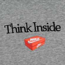 Мужская толстовка Nike Culture Brand Box Fleece Hoodie Dark Grey Heather фото- 2