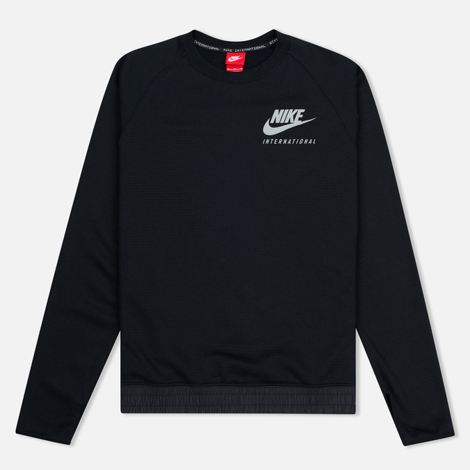 Мужская толстовка Nike International Neck Crew Black/Red