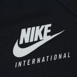 Мужская толстовка Nike International Neck Crew Black/Red фото- 2