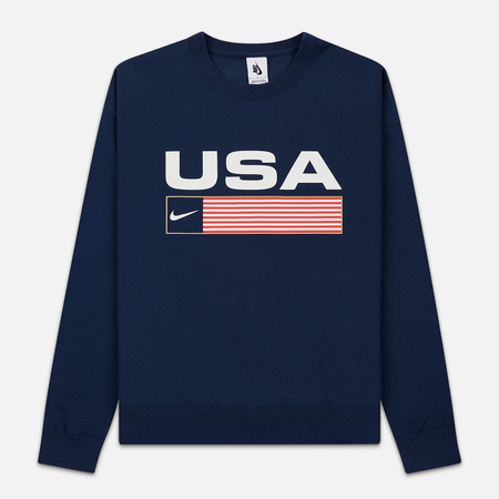 Мужская толстовка Nike NRG Crew Swoosh Stripe Midnight Navy