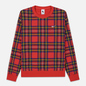 Мужская толстовка Nike NRG Crew Swoosh Stripe Plaid University Red фото - 0