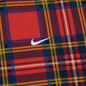 Мужская толстовка Nike NRG Crew Swoosh Stripe Plaid University Red фото - 2
