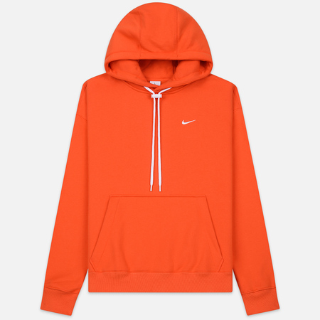 Мужская толстовка Nike NRG Embroidered Swoosh Hoodie Team Orange/White