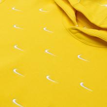 Мужская толстовка Nike NRG Swoosh Logo Hoodie Chrome Yellow фото- 1