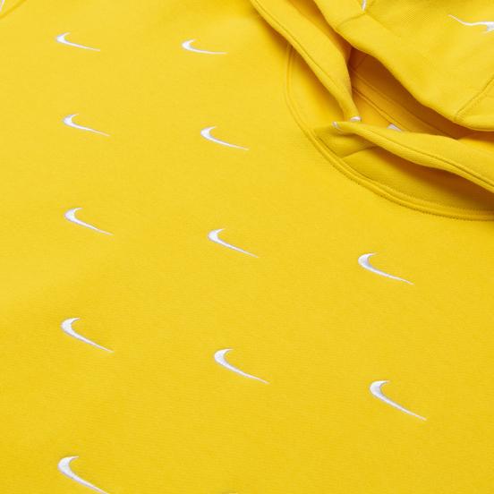 Мужская толстовка Nike NRG Swoosh Logo Hoodie Chrome Yellow