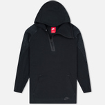 Мужская толстовка Nike Pleated Tech Fleece Hoody Black фото- 0