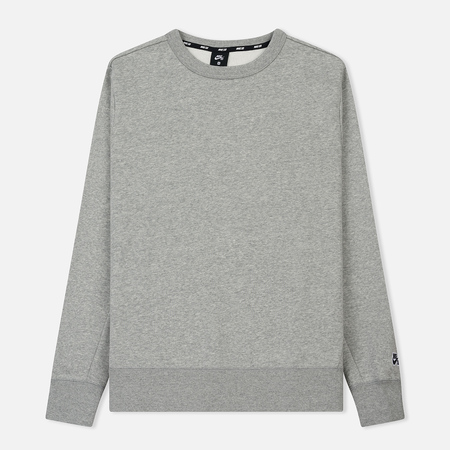 Мужская толстовка Nike SB Crew Icon Fleece Essential Dark Grey Heather/Black
