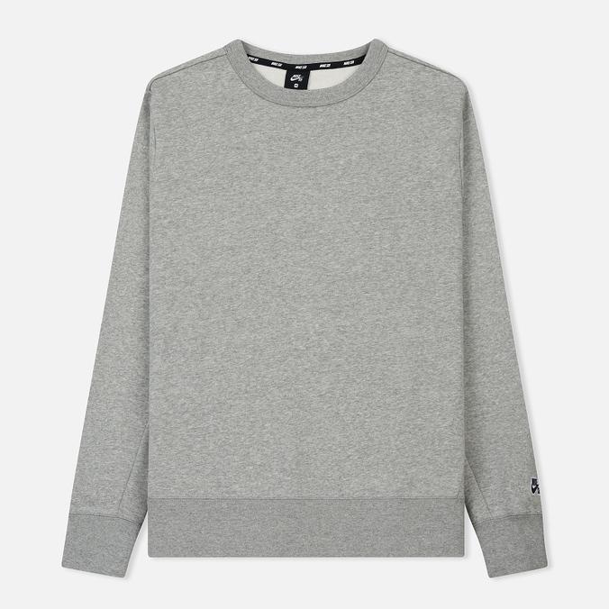 Мужская толстовка Nike SB Crew Icon Fleece Essential Dark Grey Heather/Black