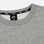 Мужская толстовка Nike SB Crew Icon Fleece Essential Dark Grey Heather/Black фото- 1