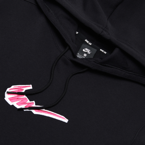 Мужская толстовка Nike SB Fleece Skate Hoodie Black/White