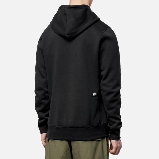Мужская толстовка Nike SB Fleece Skate Hoodie Black/White